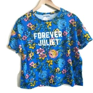 ZARA | forever juliet floral embroidered tee